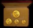 London Coins : A163 : Lot 1765 : Proof Set 1937 the 4-coin set in gold, Five Pounds, Two Pounds, Sovereign and Half Sovereign, UNC wi...