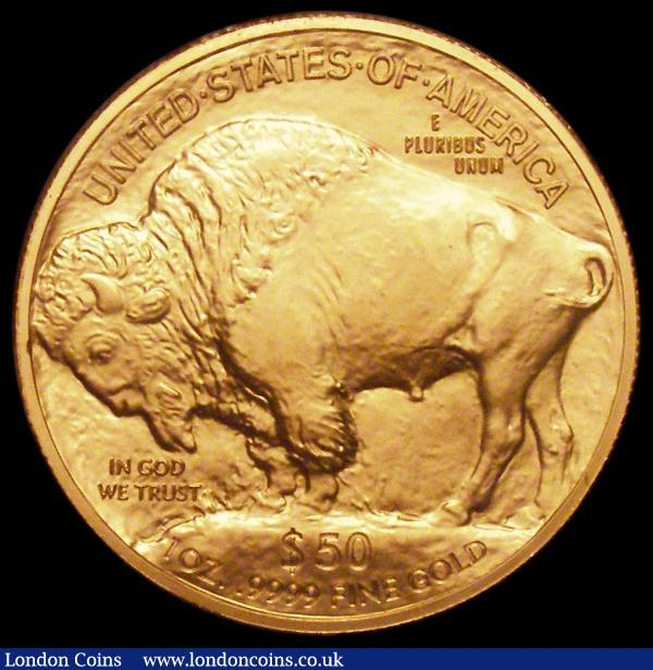 USA $50 Buffalo 2012 Gold BU (1 ounce) in the United States Mint plastic holder as issued : World Cased : Auction 163 : Lot 2020