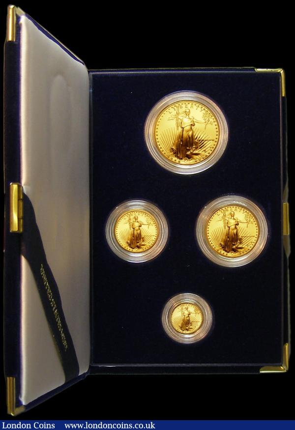 USA Gold Proof Set 1988 (4 coin set $50, $25, $10, $5 Ounce, Half Ounce, Quarter Ounce, Tenth Ounce) FDC in the US Mint case of issue with certificate : World Cased : Auction 163 : Lot 2022