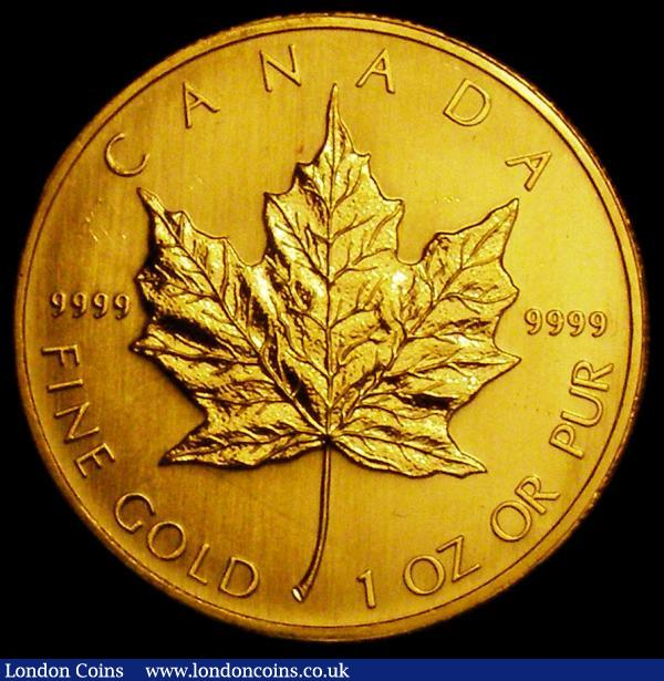 Canada 50 Dollars 2002 Gold Maple Leaf, One Ounce Lustrous UNC with some minor contact marks : World Coins : Auction 163 : Lot 2055