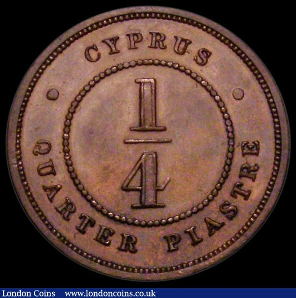 Cyprus Quarter Piastre 1879 Proof KM#1.1 UNC and nicely toned, very Rare as a Proof issue : World Coins : Auction 163 : Lot 2067