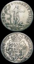 London Coins : A163 : Lot 2122 : Malta (2) 15 Tari 1756 KM#252Fine, the edge with some file marks at 9 o'clock, Scudo (12 Tari) ...