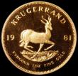 London Coins : A163 : Lot 2148 : South Africa Krugerrand 1981 Proof KM#73 nFDC retaining much original mint brilliance, in a South Af...