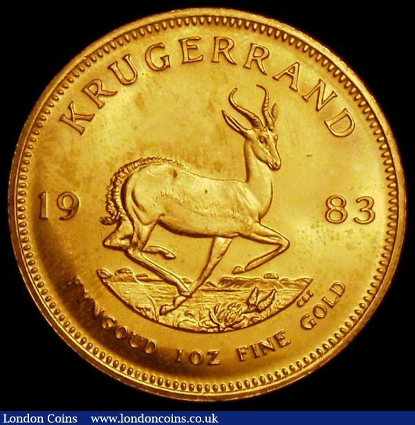 South Africa Krugerrand 1983 KM#73 UNC lightly toning : World Coins : Auction 163 : Lot 2150
