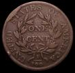 London Coins : A163 : Lot 2171 : USA Cent 1803 Breen 1754 Small Date and fraction, 10 Berries, Sheldon 246, Breen 1754 with reverse d...
