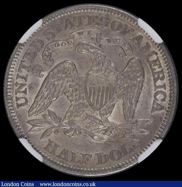 USA Half Dollar 1866 Breen 4933 in an NGC holder and graded AU55 : World Coins : Auction 163 : Lot 2179