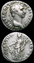 London Coins : A163 : Lot 223 : Roman Ar Denarius (2) Nerva, Obverse: Laureate head right IMP NERVA CAES AVG AVG P M TR P COS II P P...