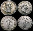 London Coins : A163 : Lot 231 : Roman Ar Denarius (4) Domitian 94AD Obverse: Laureate Head right IMP CAES DOMIT AVG GERM P M TR P XI...