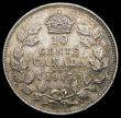 London Coins : A163 : Lot 2410 : Canada 10 Cents 1915 KM#23 GEF/AU and attractively toned, scarce in this grade