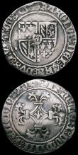London Coins : A163 : Lot 2441 : France Teston 1576 Henry II obverse right facing bust HENRICVS II D.G. REX NAVARE with D.B below the...