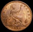 London Coins : A163 : Lot 2626 : Penny 1860 Toothed Border as Freeman 15 dies 4+D Gouby BP1860R with central cut fishtail in the ribb...