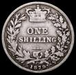 London Coins : A163 : Lot 2652 : Shilling 1879 No Die Number ESC 1334, Davies 912a, dies 7B, only the second example recorded, the pr...