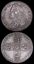 London Coins : A163 : Lot 2665 : Sixpences (2) 1757 ESC 1622. Bull 1762 with many of the reverse stops weak or missing NEF with grey ...