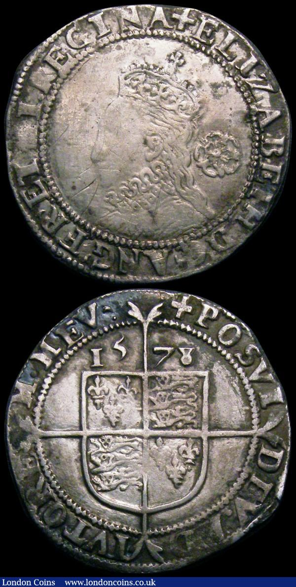 Elizabeth I Threepence 1574 and Sixpence 1578 both Fine or better and with some old scratches : Hammered Coins : Auction 163 : Lot 269
