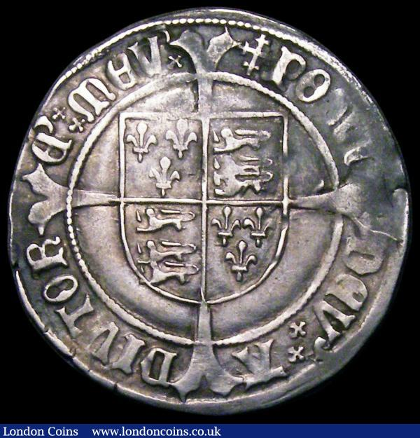 Groat Henry VII Profile issue, Regular issue with triple band to crown, S.2258 mintmark Cross Crosslet GF/NVF with some rim nicks : Hammered Coins : Auction 163 : Lot 274