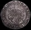 London Coins : A163 : Lot 291 : Halfcrown Charles I Group 2, second horseman, type 2a, Smaller horse, cross on housing, Reverse: Ova...