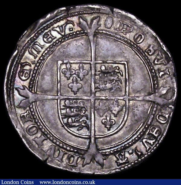 Sixpence Edward VI Fine Silver issue S.2483 mintmark Tun NEF with strong portrait and colourful underlying tone in places, some small edge nicks barely detract from the overall excellent eye appeal of the piece, seldom seen in this high grade, Ex-Alfred Bole Collection : Hammered Coins : Auction 163 : Lot 350