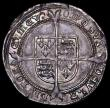 London Coins : A163 : Lot 350 : Sixpence Edward VI Fine Silver issue S.2483 mintmark Tun NEF with strong portrait and colourful unde...