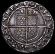 London Coins : A163 : Lot 353 : Sixpence Elizabeth I Sixth issue, 1587 7 over 6 Bust 6B, ELIZAB legend, S.2578A mintmark Crescent, t...