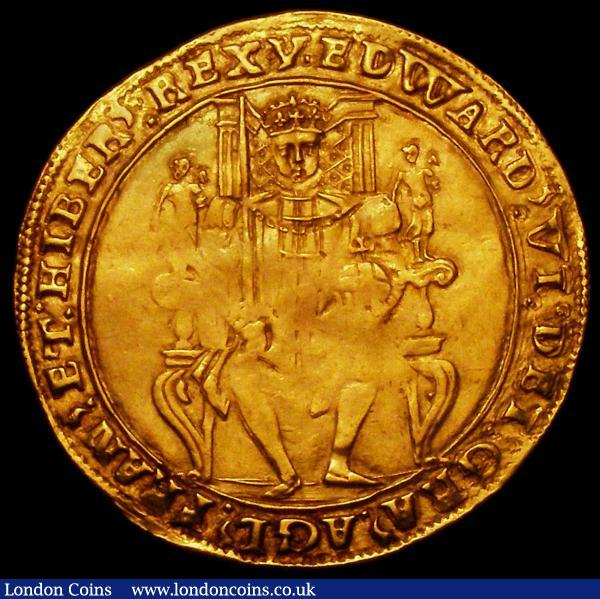 Sovereign Edward VI Second Period January 1549 to April 1550 mint mark y (Southwark Mint) weakly struck in the centre of both sides otherwise EF with the legends and portrait very sharp and very seldom offered in any grade : Hammered Coins : Auction 163 : Lot 360
