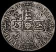 London Coins : A163 : Lot 381 : Crown 1666 Elephant below bust ESC 33 bold and pleasant Fine hard to find with such good eye appeal,...