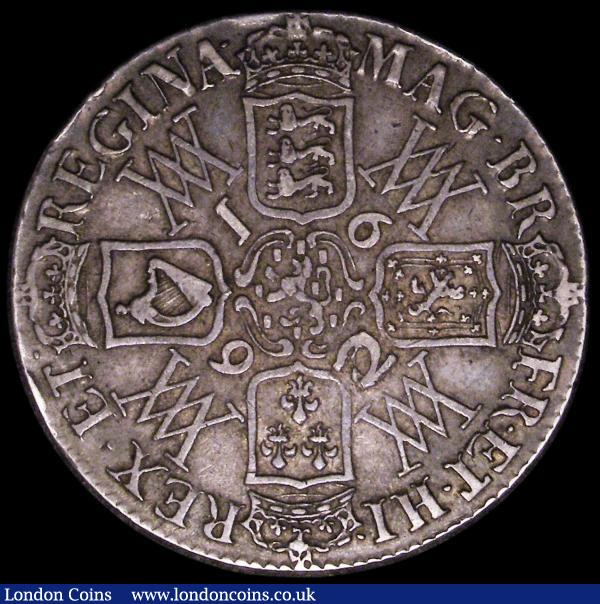 Crown 1692 2 over inverted 2 ESC 85, Bull 824 GF/NVF : English Coins : Auction 163 : Lot 386