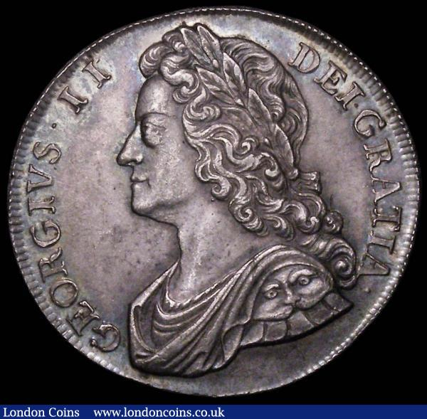 Crown 1741 Roses ESC 123 Good EF/AU lovely tone graded 75 by LCGS and in their holder : English Coins : Auction 163 : Lot 392