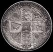 London Coins : A163 : Lot 402 : Crown 1847 Gothic UNDECIMO ESC 288, Bull 2571, UNC and prooflike and a most attractive blue and gree...