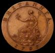 London Coins : A163 : Lot 451 : Farthing 1797 Restrike Pattern in Bronzed copper, Obverse: Wreath with 3 Berries, 2 Leaves projectin...