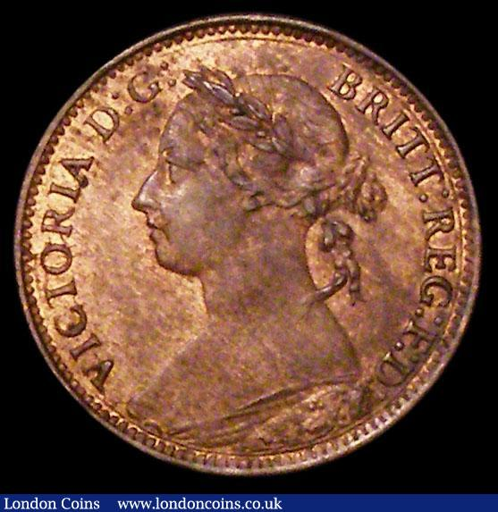 Farthing 1895 Bun Head Freeman 570 dies 7+F UNC with around 30% lustre : English Coins : Auction 163 : Lot 454