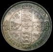London Coins : A163 : Lot 473 : Florin 1871 ESC 837, Bull 2874, Davies 752 dies 3B, Top Cross overlaps border beads, Die Number 14 A...