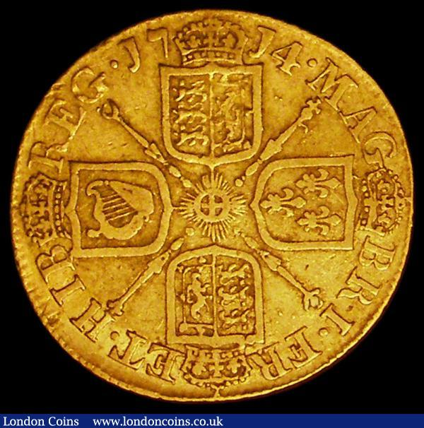Guinea 1714 Anne S.3574 VG/NF : English Coins : Auction 163 : Lot 500