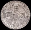 London Coins : A163 : Lot 573 : Halfcrown 1697 NONO, Large Shields, Later Harp, ESC 541, Bull 1021, GVF/NEF with underlying lustre a...