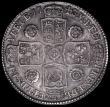 London Coins : A163 : Lot 592 : Halfcrown 1743 Roses ESC 603A VF/GVF and attractively toned
