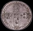 London Coins : A163 : Lot 596 : Halfcrown 1746 6 over 5 LIMA ESC 607, Bull 1689 A/UNC, a sharply struck example, with touches of gol...