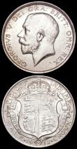London Coins : A163 : Lot 689 : Halfcrowns (2) 1911 ESC 757, Bull 3709 GEF lightly toned, 1912 ESC 759, Bull 3711 EF