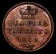 London Coins : A163 : Lot 796 : Quarter Farthing 1868 Bronze Proof Peck 1616 UNC the obverse with a slightly uneven tone, the revers...