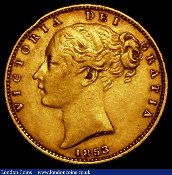 Sovereign 1853 WW Raised S.3852C NVF/GF with an edge nick : English Coins : Auction 163 : Lot 897