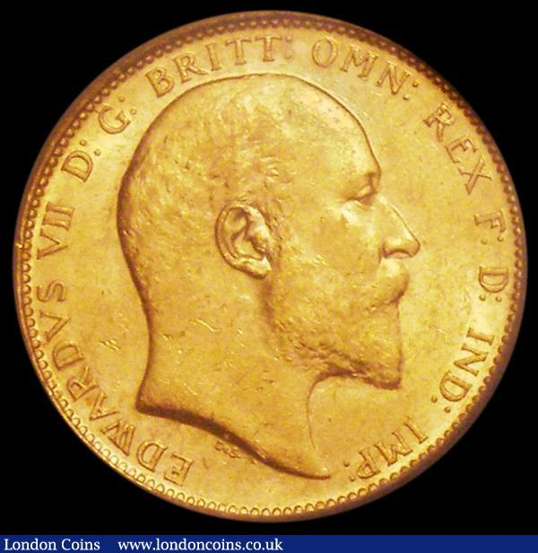 Sovereign 1907M Marsh 191 EF in an LCGS holder and graded LCGS 65 : English Coins : Auction 163 : Lot 992