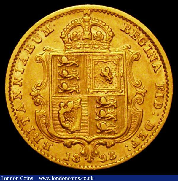 Half Sovereign 1893 Jubilee Head, No J.E.B, S.3869D GF/NVF : English Coins : Auction 164 : Lot 1074