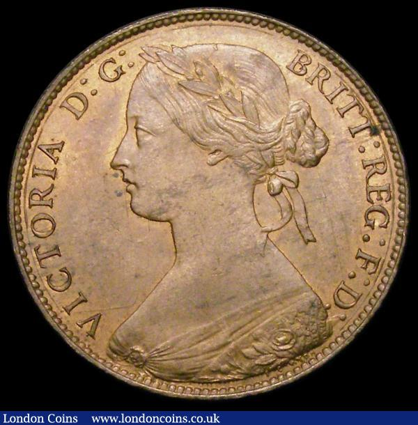 Penny 1861 as Freeman 22 dies 4+D, the lower loop of the 8 incomplete, A/UNC with traces of lustre : English Coins : Auction 164 : Lot 1254