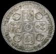 London Coins : A164 : Lot 1331 : Sixpence 1745 Roses ESC 1615, Bull 1453 GEF/UNC with grey and gold toning