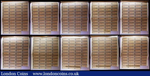 China, Chinese Government 1913 Reorganisation Gold Loan, 10 x bonds for £20, Hong Kong & Shanghai Bank issues, vignettes of Mercury and Chinese scenes, black & brown with coupons Fine to VF some with pencil or ink annotations : Bonds and Shares : Auction 164 : Lot 14
