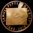 London Coins : A164 : Lot 1537 : Two Pounds 2019 350th Anniversary of Samuel Pepys' Diary Gold Proof, FDC uncased in capsule, as...