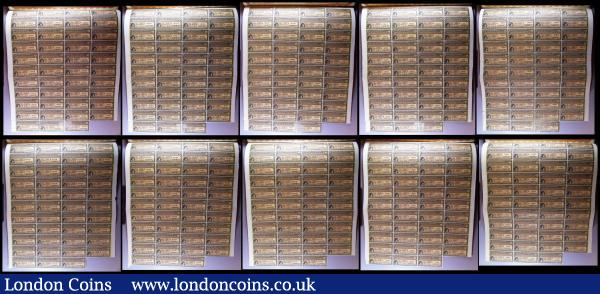 China, Chinese Government 1913 Reorganisation Gold Loan, 10 x bonds for £20, Hong Kong & Shanghai Bank issues, vignettes of Mercury and Chinese scenes, black & brown with coupons Fine to VF some with pencil or ink annotations : Bonds and Shares : Auction 164 : Lot 16