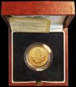 London Coins : A164 : Lot 166 : Sovereign 1989 500th Anniversary of the First Gold Sovereign S.SC3 FDC in the box of issue with Hall...