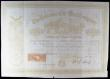 London Coins : A164 : Lot 20 : USA (2), New York Central Petroleum Company, New York, 1866 Certificate for 200 Shares, red with min...