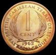 London Coins : A164 : Lot 349 : East Caribbean States - British Caribbean Territories 1 Cent 1962 VIP Proof/Proof of record KM#2 nFD...
