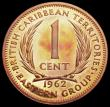 London Coins : A164 : Lot 351 : East Caribbean States - British Caribbean Territories 1 Cent 1962 VIP Proof/Proof of record KM#2 UNC...
