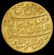 London Coins : A164 : Lot 396 : India - Bengal Presidency Gold Mohur AH1202/19 with oblique edge milling KM#113, Pridmore 62, in a P...